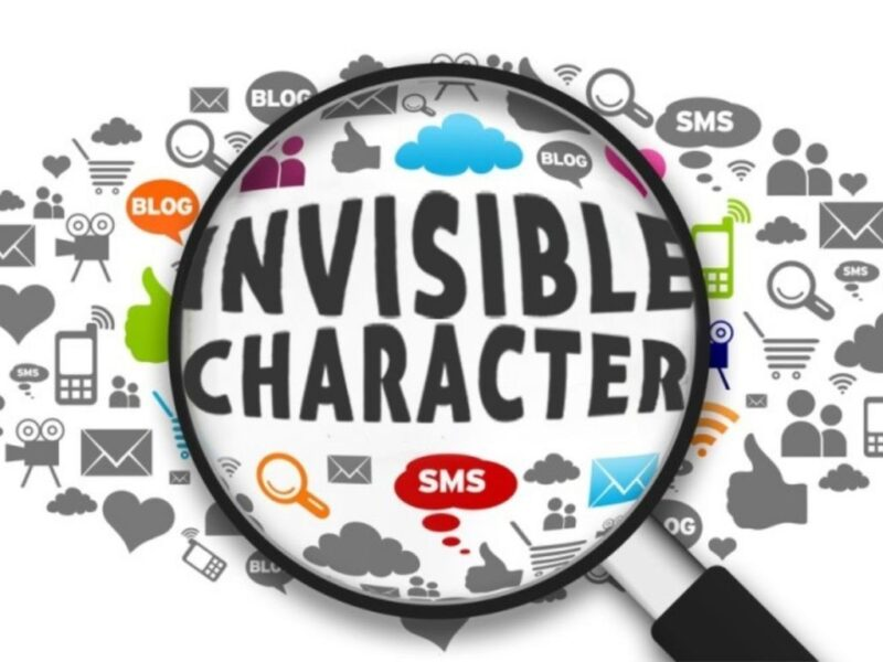 How to hide identity on social media using invisible character